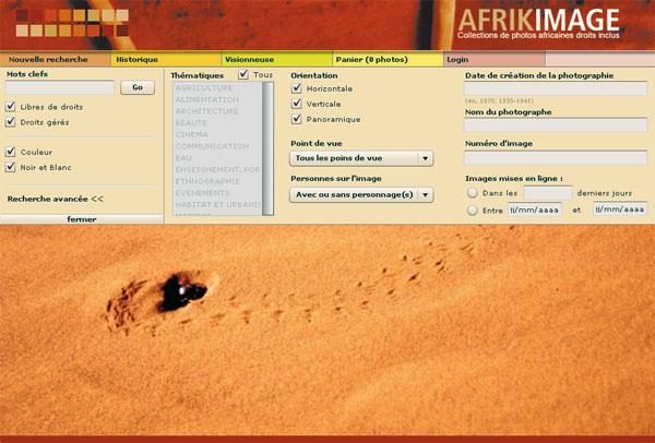 Module de recherche du site Afrikimage
