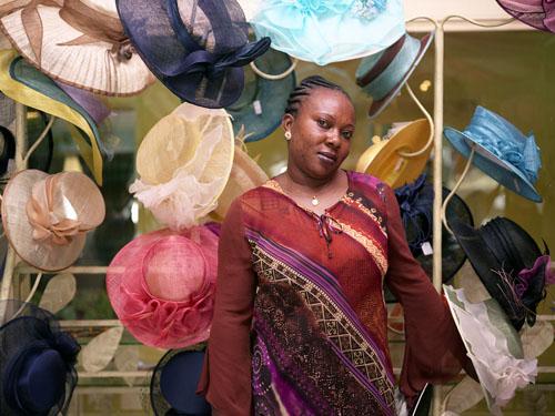 Marie Georgina Mbaumba, Pret aý Porter Saleswoman, Boutique Oceane, Libreville, Gabon2 © Philippe Sibelly