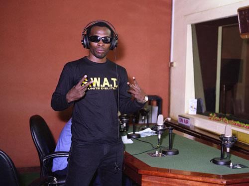 Alain Dexter, Radio DJ, TV Presentor, Producer and Rap Artist , CRTV, Yaounde, Cameroon1 © Philippe Sibelly