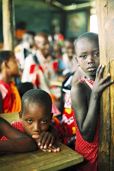 Ecole maasaï dans la région de Shompole © Antoine Combier