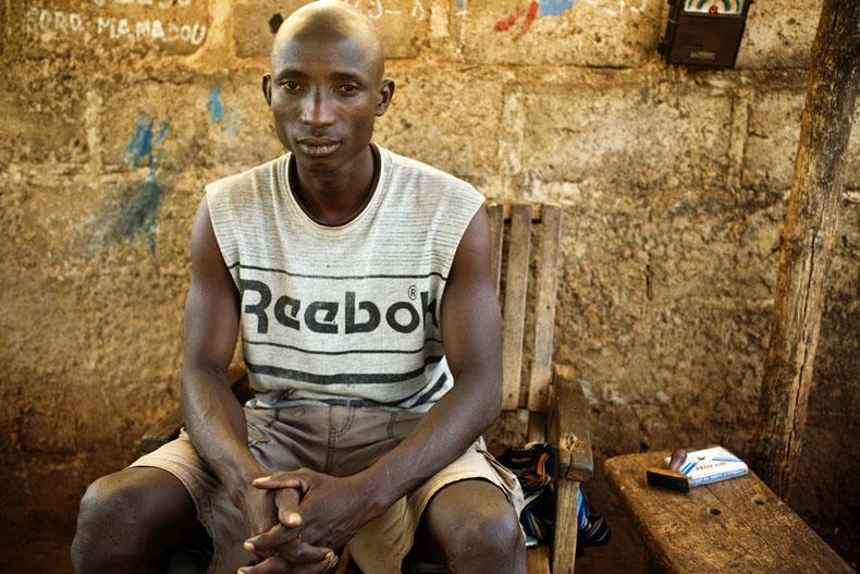 Celestin, ex-rebelle Korhogo © Camille Millerand