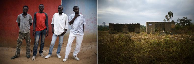 Baffi, Alassan, Ahmed et Ibrahim sont des tous des ex-rebelles. Ils ont laissés les armes et attendent d'être réinséré dans la société civile. En attendant, ils passent leur journée au corridor de Bouaké pour tenter de gagner quelques