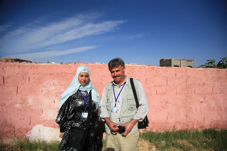Sanae Harasani, directrice artistique et Mahmoud Salem, membre du jury, Oujda © Baptiste de Ville d'Avray
