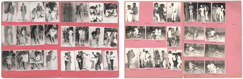 Malick Sidibé Anniversaire bébé, janvier 1971 (à gauche) / Santa Monica, 10-2-69 (à droite) © Malick Sidibé / association GwinZegal