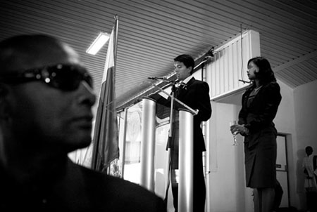 Discours de Rajoelina au palais présidentiel de Lavoloha © Rijasolo