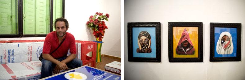 Hassan Hajjaj à la Galerie de l'Institut National des Arts © Baptiste de Ville d'Avray