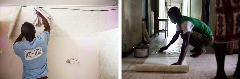 (à gauche) Yannick de Schékina Décor, tapissier universitaires / (à droite) Amani de Schékina Décor, tapissier universitaires © Camille Millerand