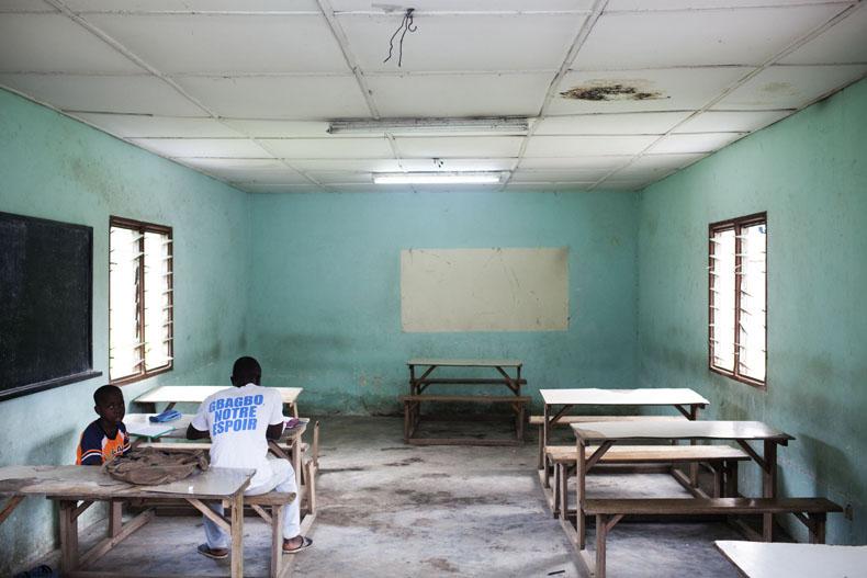 Cité U des 220 à Adjamé, Salle d'étude © Camille Millerand