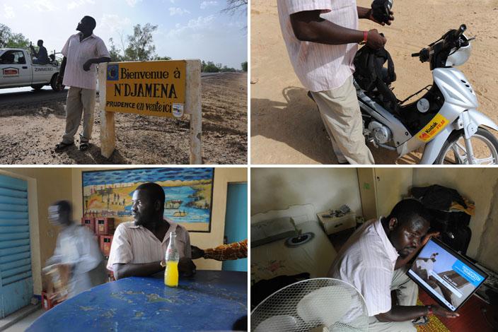 Né à N'Djaména, Abdoulaye Barry, jeune photographe de 30 ans est lauréat du Prix du Jury 2009 à la biennale de la photographie africaine à Bamako. © Philippe Guionie/Myop