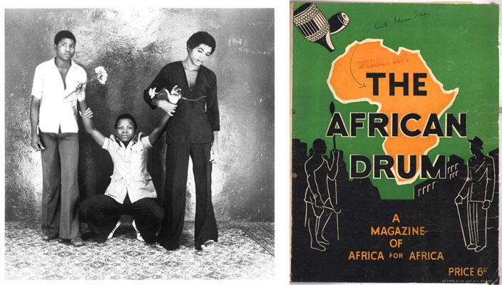 (à gauche) Studio 3z - RD Congo / (à droite) DRUM Magazine, March 1951, courtesy Bailey Seippel Galler
