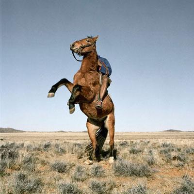 Horseman on Wildehonderand farm. Philippolis district, Free State, 18 August 2009 © Daniel Naudé | Coutesy Michael Stevenson Gallery