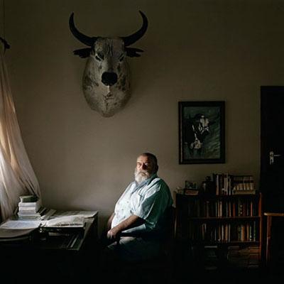 Ben Fyfer, an Nguni cattle farmer, at his desk. Louwna, North West Province, 2 March 2010 © Daniel Naudé | Coutesy Michael Stevenson Gallery
