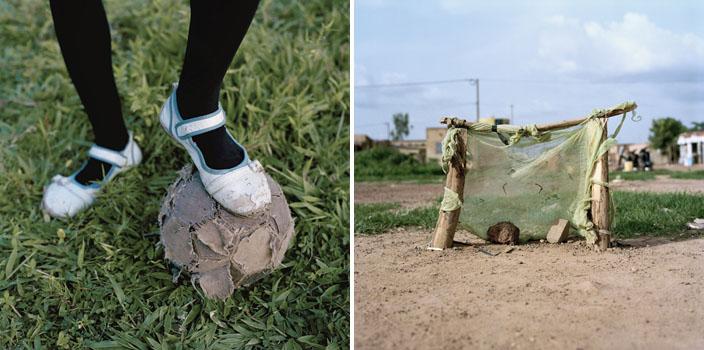Série Amen - Ballet Shoes (à gauche) / Ouagadougou goals (à droite) © Jessica Hillout