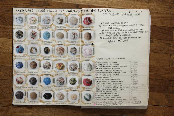 Balles collectionnées tout au long du projet © Jessica Hillout