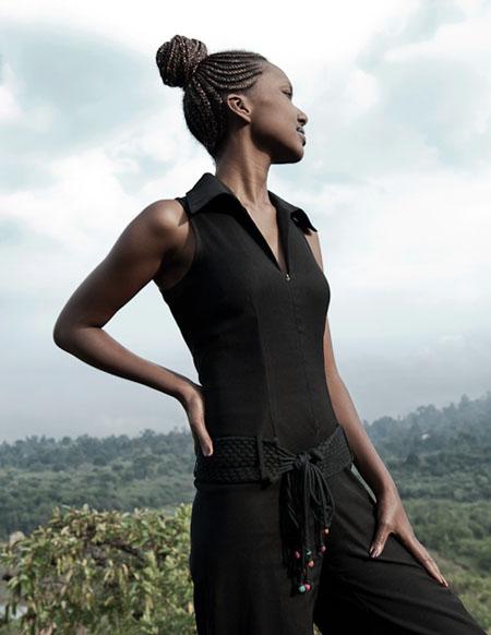 Lysette, dans les collines de Ruyigi. © Fabrice Monteiro