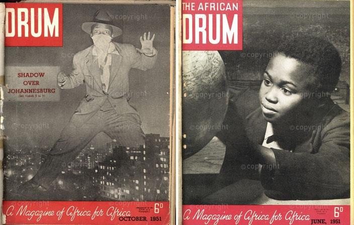 1951 – Comme un thriller provocant sur Johannesburg.  Drum vient de s'y installer. (G.)   1951 – Découvrir le monde, celui qui nous est refusé... (D.)