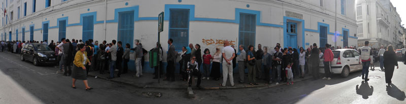 Rue de Marseille , centre ville de Tunis , Tunisie 23 octobre 2011 © Mohamed Slim Werda