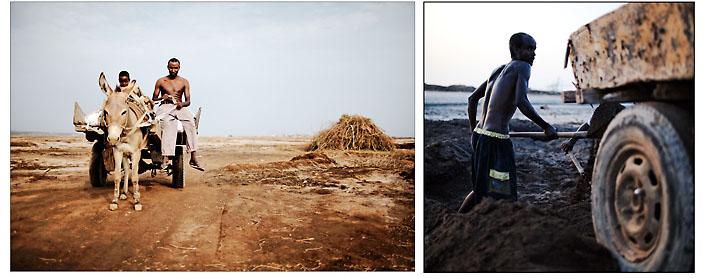Ces attelages archaïques tirés par de petits ânes nous ont permi de remonter la piste de invisibles de Djibouti. Ces charettes sont leur unique moyen de transport. © Emmanuel Martin