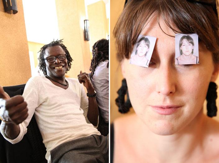 (à gauche) Solo Soro, animateur de l'Afrique enchantée sur France Inter / (à droite) Julie Demaison © Sébastien Rieussec