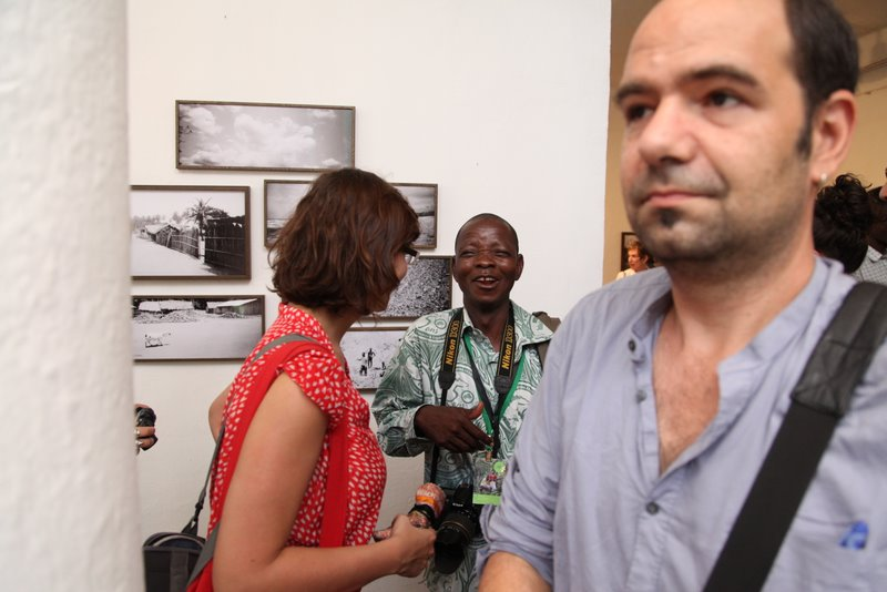 Vernissage de l'expo de Nii Obodai à l'INA © Sébastien Rieussec