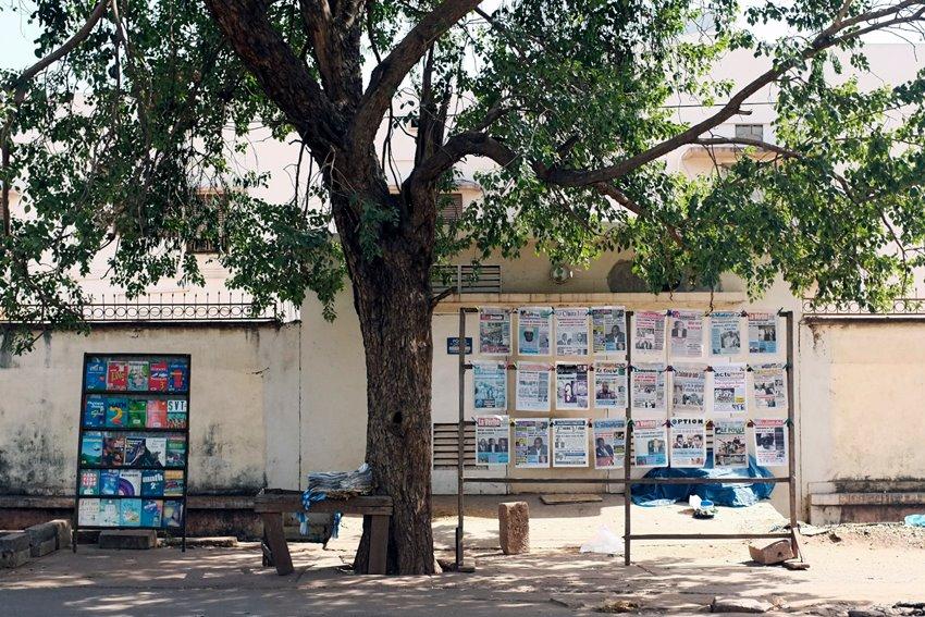 Les Unes de Bamako- Ghaddafi. © Sophia Baraket