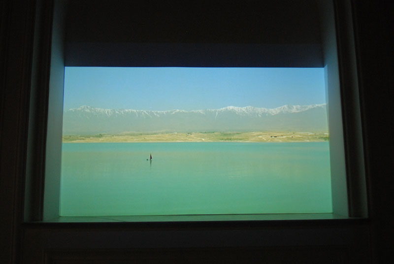 Lida Abdul, What We Have Overlooked, 2011, 2-channel video installation, 16mm video transferred to Blu-ray, 16:9, 3:44 min., Courtesy the artist; Giorgio Persano, Turin, Photo: Najibullah Musafer