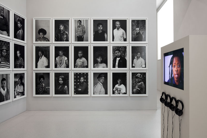 Zanele Muholi, -Untitled, 1993–2012, Faces and Phases, 2011–12 60 photographs Gelatin silver prints each 86.5 x 60.5 cm Courtesy Stevenson, Cape Town and Johannesburg Commissioned by dOCUMENTA (13) and produced by Goethe-Institut, South Africa; Goethe-Institut, sub-Saharan Africa; Stevenson, Cape Town and Johannesburg -Difficult Love, 2010 Video documentary 25 min. Co-directed by Peter Goldsmid and Zanele Muholi Courtesy South African Broadcasting Corporation (SABC), Photo: Anders Sune Berg