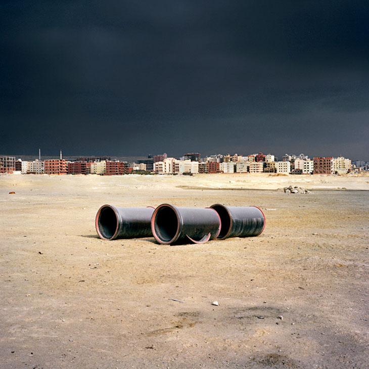 sewage pipes Cairo divided 2010 © jason larkin